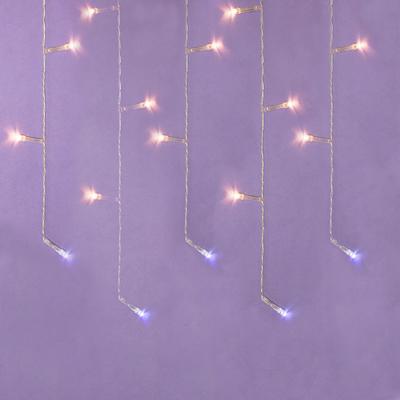 СНОУ БУМ Гирлянда эл. бахрома, 96LED, 3x0.5x0,7м, шампань, пост.свечение, ПВХ прозрач, коннект, 220В - фото товара