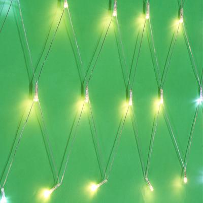 СНОУ БУМ Гирлянда эл. бахрома-сетка 100LED, 2,5х0,5м, шампань, мерцание 20 LED, ПВХ прозрач., 220В - фото товара