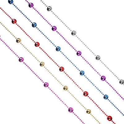 СНОУ БУМ Бусы декоративные, 200 см, пластик, 6 цветов, арт. 2021-8 (16 мм) - фото товара