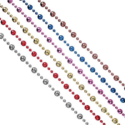 СНОУ БУМ Бусы декоративные, 200 см, пластик, 6 цветов, арт. 2021-8 (20 мм) - фото товара