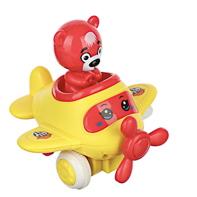 BY Игрушка в виде самолетика инерционного с фигуркой, ABS, 10,4х11,3х10,6см, 4 цвета - фото товара