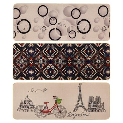 VETTA Коврик в прихожую, искусственный лен, резина, 120x45x0,3см, 3 дизайна - фото товара