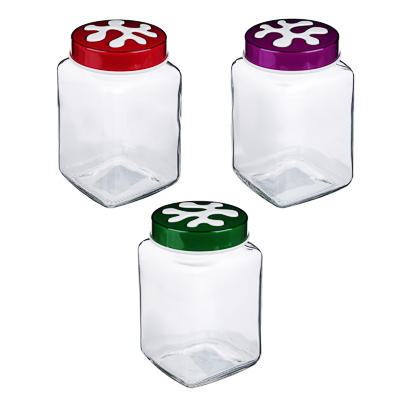HEREVIN Пазл Банка для сыпучих продуктов, стекло, 1л, 3 цвета, 137011-804 - фото товара