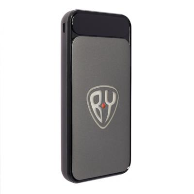 BY Аккумулятор мобильный с подсветкой, 10000мАч, 2 USB, 2A, прорезиненный корпус, пластик - фото товара