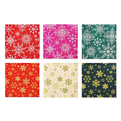 СНОУ БУМ Набор подарочной бумаги, ПВХ, 4 шт, 50х70см, (20х30), 6 дизайнов, арт.2021-27 - фото товара