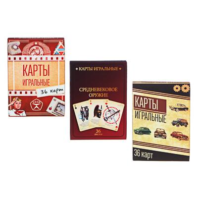 LADECOR Карты игральные  Наша ностальгия , с пластик. покрытием, 36шт, 6,3х8,8см, бумага, 3 дизайна - фото товара