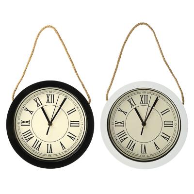 LADECOR CHRONO Часы настенные со шнуром, пластик, 25,4x25,4x4,2см, 1xАА, 2 цвета - фото товара