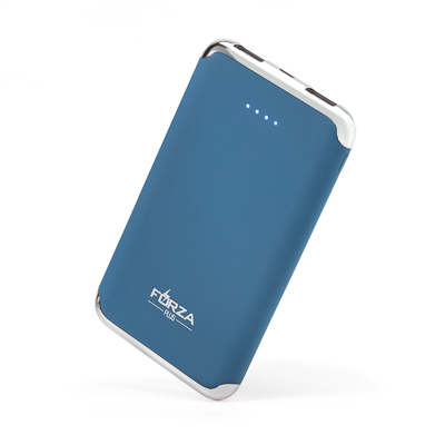 Аккумулятор мобильный, 6000 мАч, 2xUSB, 2А, покрытие Soft-touch 2 цвета