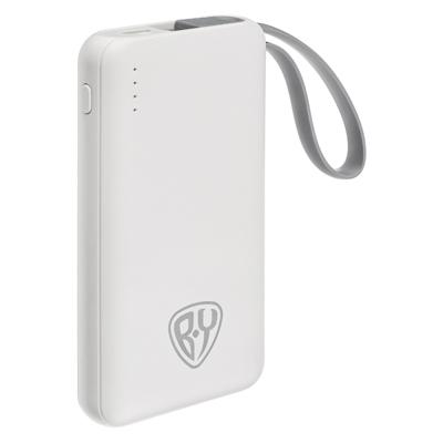 Аккумулятор мобильный, 3000 мАч, USB, 1А, встроенный кабель iP/Micro USB, 2 цвета