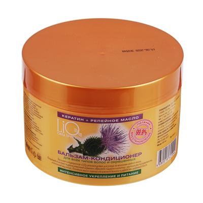 Бальзам-кондиционер для волос LiQ Кератин + репейное масло, 500мл - фото товара