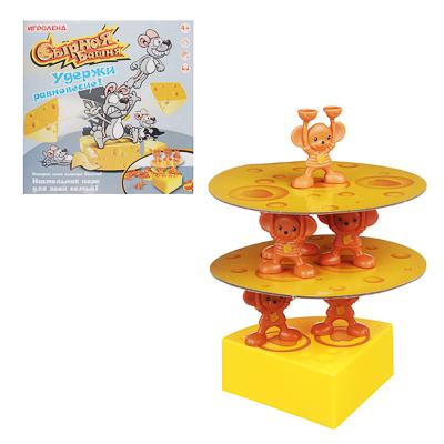 ИГРОЛЕНД Игра настольная  Сырная Башня , пластик, картон, 27х27х6см