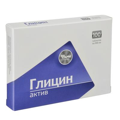 БАД Глицин-Актив, таблетки с/линг 100мг №100 - фото товара