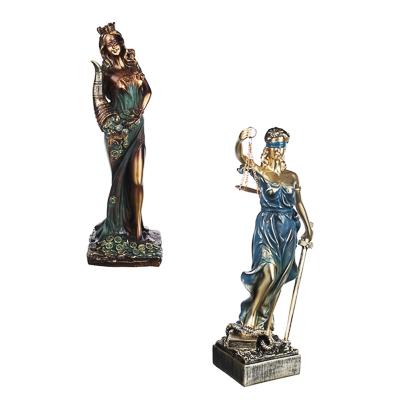 LADECOR Статуэтка в виде богини, полистоун, 30х14х9см(+/-2,5)см, 2 дизайна - фото товара