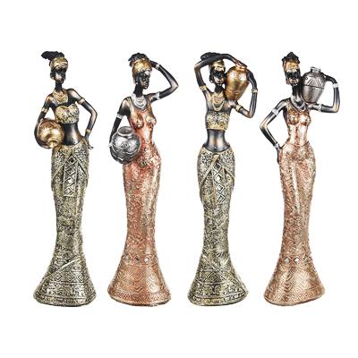 LADECOR Статуэтка в виде африканки, 31х8,5х6см см, 4 дизайна, полистоун - фото товара