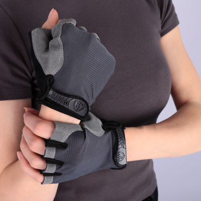 SILAPRO BY Перчатки спортивные, S и XL, полиэстер, антискользящие, вставка против пота - фото товара