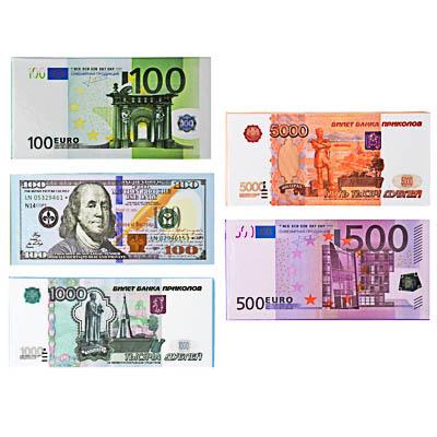 Блокнот Сувенирные деньги, 5 видов - фото товара
