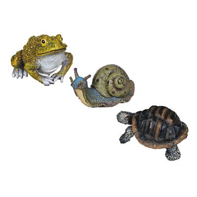 INBLOOM Фигура садовая  Улитка, лягушка, черепаха , h7-9см, полистоун - фото товара