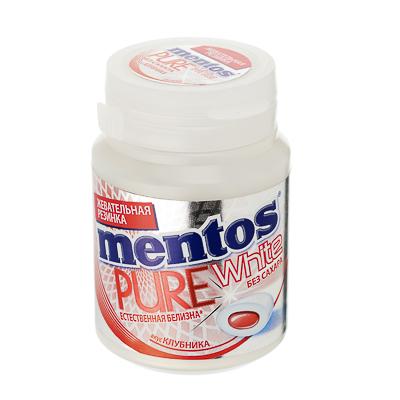 Жевательная резинка Ментос Пьюр Вайт ролл, клубника, 54г, 8253366 - фото товара