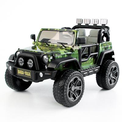 BY Электромобиль полноприводный, свет, звук, 12V10AH PP, металл, 150x95x77см, зеленый милитари - фото товара