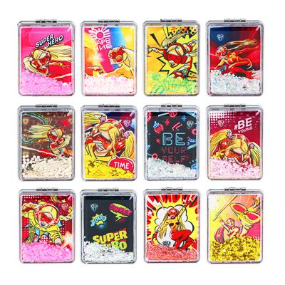 ЮниLook Зеркало карманное, пластик, стекло, 8х5,8см, 12 дизайнов - фото товара