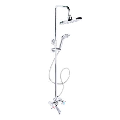 RAIN Душевая система со смесителем (латунь), верхний душ 1 реж, ручной душ 3 реж, короб - фото товара