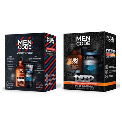 Набор подарочный мужской MEN CODE LIMITED EDITION (крем-гель для душа 300мл+гель для умывания 150мл) - фото товара