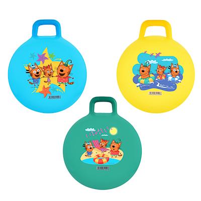 ИГРОЛЕНД Мяч-попрыгун с ручкой  Три кота , ПВХ, 45см, 3 дизайна - фото товара