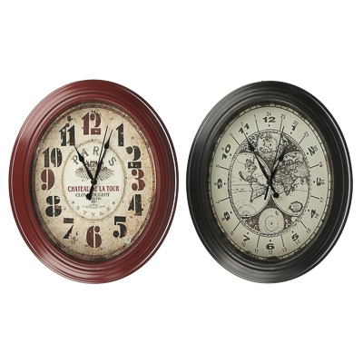 LADECOR CHRONO Часы настенные, пластик, овальные, 30,5x25,5x4см, 1хАА, 2 цвета - фото товара
