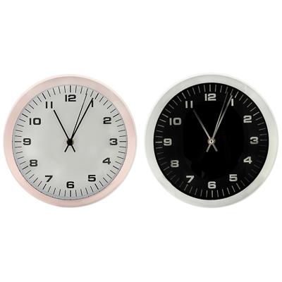 LADECOR CHRONO Часы настенные, пластик, 25,4x25,4x7,7см, 1хАА, с хром кантом, 2 цвета - фото товара