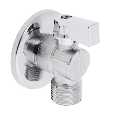 FRESSO Кран шаровый угловой для подкл. стац. приборов с отражателем, 1/2 х1/2 , НР-НР, хром - фото товара