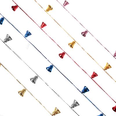 СНОУ БУМ Бусы декоративные с колокольчиками, 200см, пластик, 4 цвета - фото товара