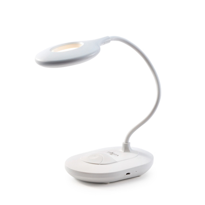 FORZA Лампа настольная, 16 LED, питание USB, кабель 1.5м, 1200Lux, аккум.1200мАч, белая, пластик - фото товара