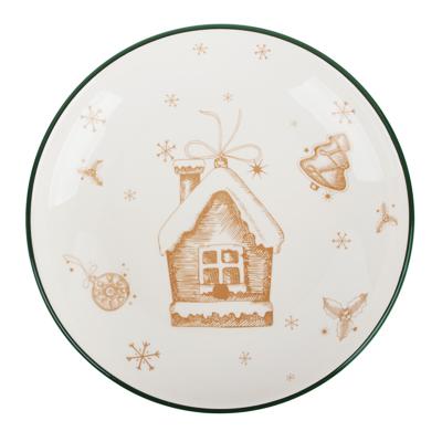 MILLIMI Пряничный домик Блюдо круглое 22х3см, керамика - фото товара