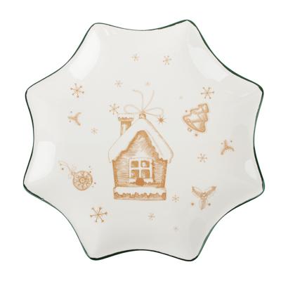 MILLIMI Пряничный домик Блюдо в форме звезды 25,5х2см, керамика - фото товара