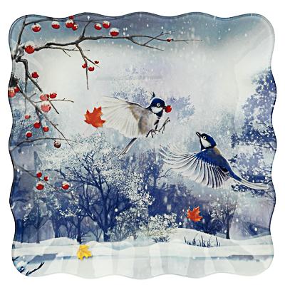 Зимушка-зима Блюдо квадратное 20х2см, стекло - фото товара