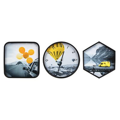 Часы настенные 30см с панно 30х30см и 34х39см, пластик, арт.2 - фото товара