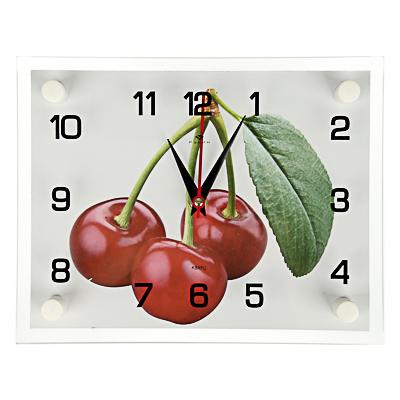 Часы настенные  Плоды сада, 20х26см, стекло, арт.о-07,08 - фото товара