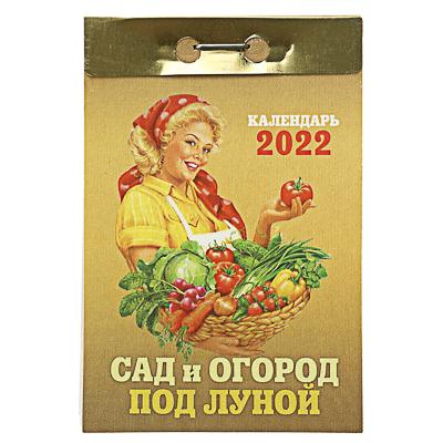 Календарь настенный отрывной,  Сад и Огород под луной , бумага, 7,7х11,4см, 2022 - фото товара