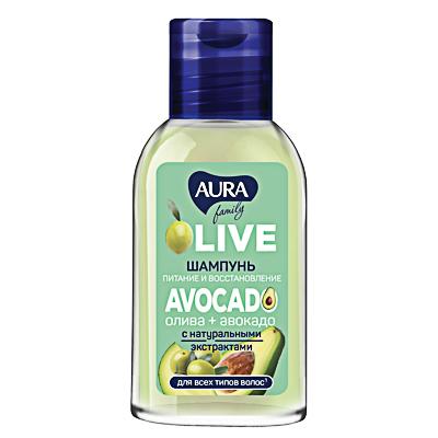 Шампунь AURA Family олива + авокадо, 50мл - фото товара