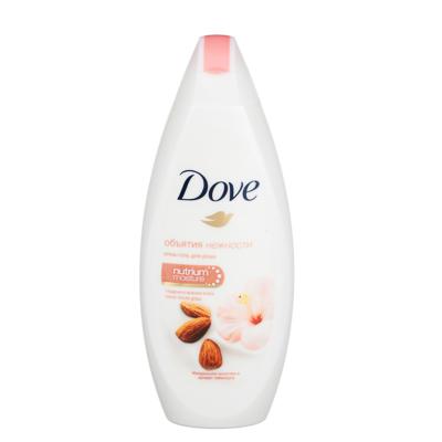 Крем-гель для душа DOVE, изысканное преображение/миндальн.молочко/слива и цветы сакуры, 225 мл - фото товара