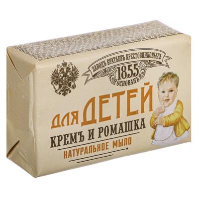 Мыло твердое ЗБК Для детей, крем и ромашка, 190 г - фото товара