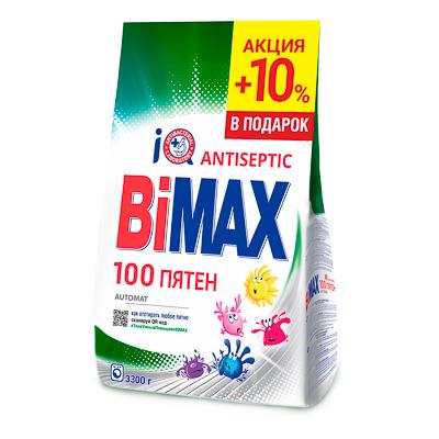 Стиральный порошок BiMax 100 пятен, 3,3 кг - фото товара