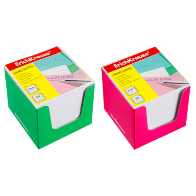 Блок для записей, в форме спирали, 9x9х5см, цветной, 65г/м2 - фото товара