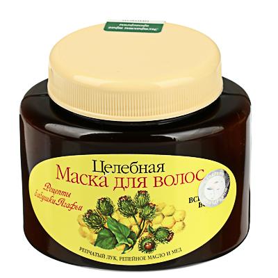 Маска для волос Рецепты бабушки Агафьи  лук, масло, мед ,250 мл - фото товара