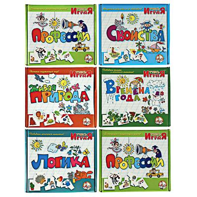 10КОРОЛЕВСТВО Игра настольная обучающая Учись играя, картон, 6 дизайнов - фото товара