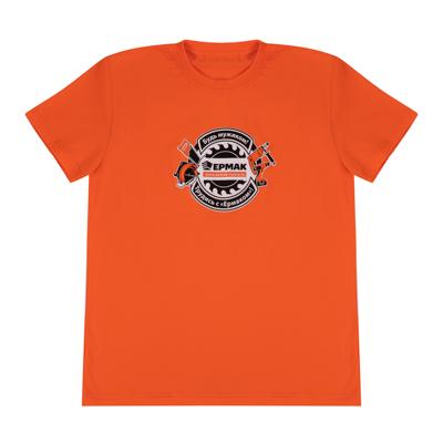 ЕРМАК Футболка с принтом Ермак, х/б, цвет черный, оранжевый, размер XL 50-52р-р (рекламный продукт) - фото товара