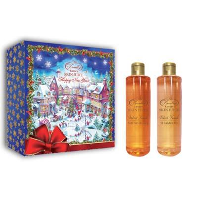 Набор подарочный женский Liss Kroully Happy New Year Skin Juice (гель для душа 260мл+ шампунь 260мл) - фото товара