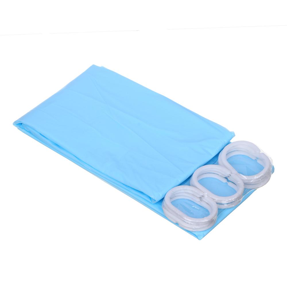 """VETTA Шторка для ванной, ПЕВА, 180x180см, """"Яркий однотон"""", 3 цвета"""