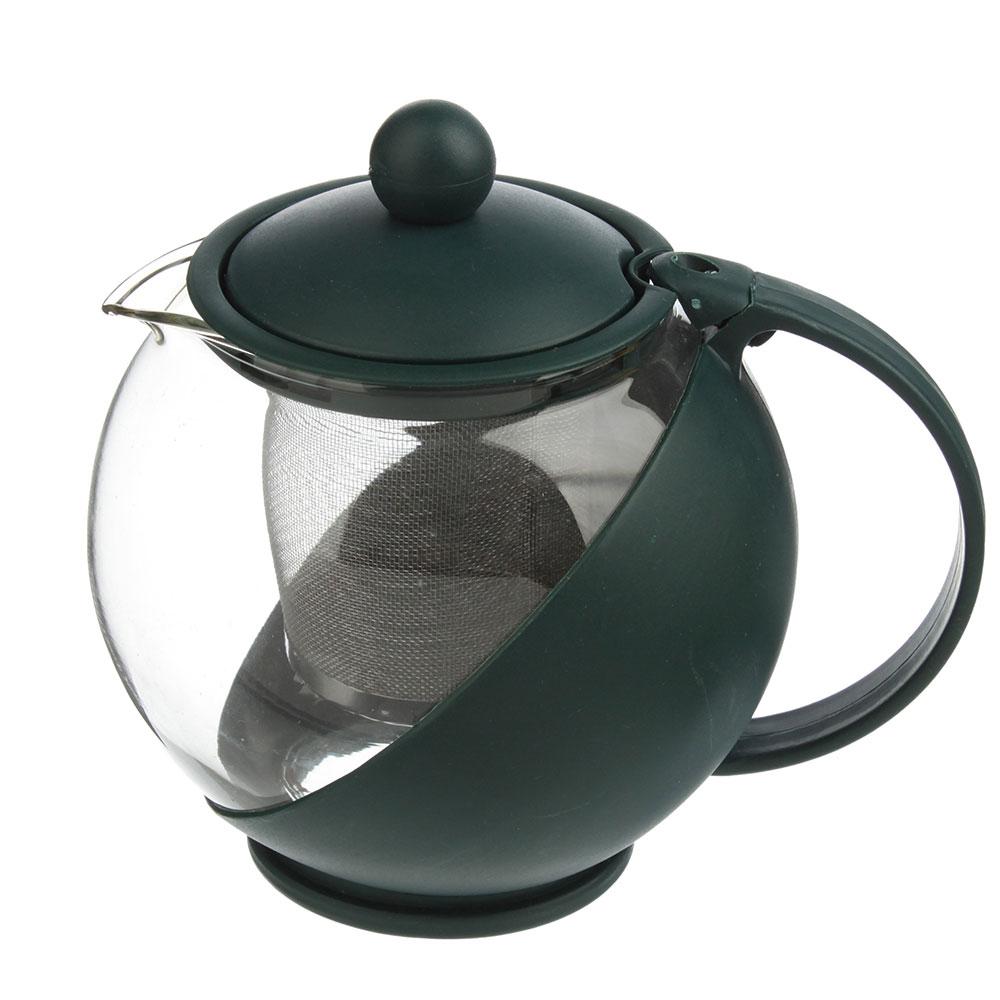 Чайник заварочный с сеточкой 750 мл, стекло/пластик