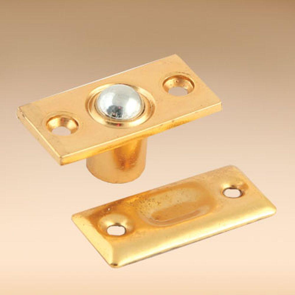 Фиксатор дверной с шариком, мал., металл, золото